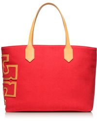 Tory Burch Stacked T Tote - Lyst