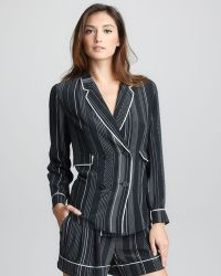 3.1 Phillip Lim - Pinstripe Silk Doublebreasted Pajama Jacket - Lyst