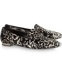Burberry Prorsum - Animalprint Calf Hair Slippers - Lyst