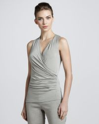 Donna Karan New York Draped Sleeveless Tunic Hemp - Lyst