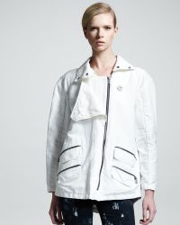 Kelly Wearstler - Zip Trim Cotton Linen Jacket - Lyst