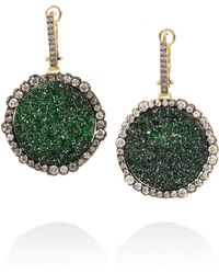 Kimberly Mcdonald - 18karat Blackened Gold Uvarovite Garnet and Diamond Earrings - Lyst