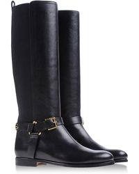 Ralph Lauren Black Boots - Lyst