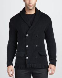 Ralph Lauren Black Label - Doublebreasted Sweater Jacket - Lyst