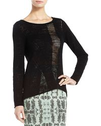 BCBGMAXAZRIA Odyline Rib Drop Needle Top - Lyst