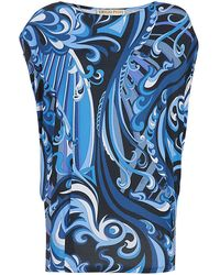 Emilio Pucci Printed Batwing Top - Lyst