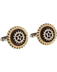 King Baby Studio Two Tone Gear Cufflinks - Lyst