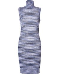 Missoni Wool Sleeveless Turtleneck Dress - Lyst