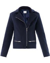 Richard Nicoll - Wool Melton Biker Jacket - Lyst