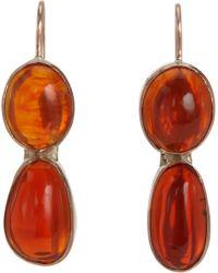 Sandra Dini - Fire Opal Two Drop Earrings - Lyst