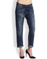 Current/Elliott The Fling Boyfriend-Fit Jeans - Lyst