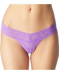 Hanky Panky Signature Lace Thong Electric Orchid - Lyst
