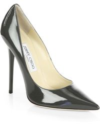 Jimmy Choo Anouk Patent Leather Pumps - Lyst