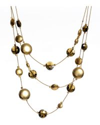 Kenneth Cole - Faceted Bead Round Disc Illusion Necklace - Lyst