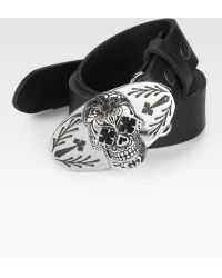 King Baby Studio Day Of The Dead Leather Belt - Lyst