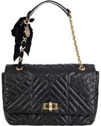 Lanvin Black Happy Large Quilted Leather Shoulder Bag - Lyst