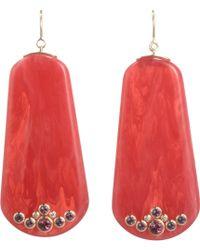 Mark Davis -  Bakelite Diamond Amethyst Earrings - Lyst