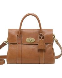 Mulberry Small Bayswater Natural Leather Bag - Lyst