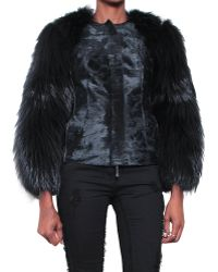 Roberto Cavalli Fur Coat Faux Pony Fox and Beaver - Lyst