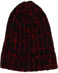 Saint Laurent - Melange Knit Skully Cap - Lyst 87fd43d9d000