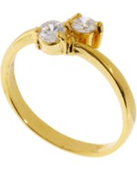 ASOS Collection Limited Edition Double Stone Finger Tip Ring - Lyst