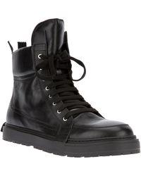 Kris Van Assche - Laceup Zip Ankle Boot - Lyst