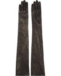 Lanvin Long Leather Gloves - Lyst