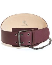 McQ - Biker Chain Wide Leather Waist Belt - Lyst
