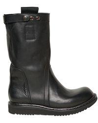 Rick Owens 30mm Calfskin Boots - Lyst