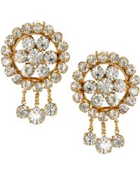 ASOS Collection Limited Edition Flower Drop Earrings with Glass Stones - Lyst