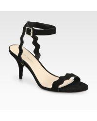 Loeffler Randall Reina Suede Ankle-Strap Sandals - Lyst