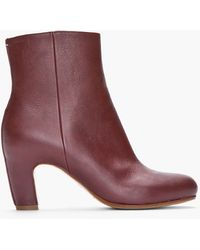 Maison Margiela Mahogany Brown Leather Ankle Boots - Lyst