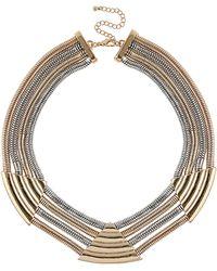Topshop Premium Chain Triangle Collar - Lyst