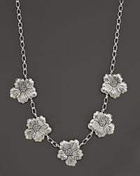 Buccellati - Blossom 5 Medium Flower Necklace with Gold Accents 21 - Lyst