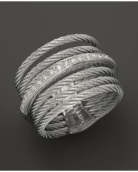 Charriol - Classique Collection Nautical Cable Ring, .09 Ct. T.W. - Lyst