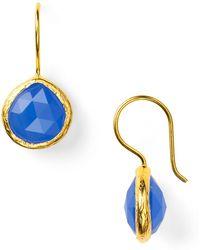 Coralia Leets - Deep Blue Chalcedony Mini French Wire Earrings - Lyst