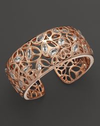 Di Modolo - Rose Plated Open Weave Rock Crystal Cuff - Lyst