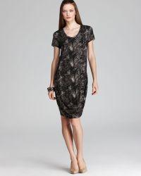 DKNY - Short Sleeve Scoop Neck Tee Dress - Lyst