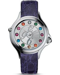 Fendi - Crazy Carats Watch with Silver and Topaz Dial 38mm - Lyst