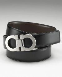 Ferragamo Mens Classic Double Gancini Reversible Belt - Lyst