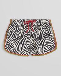 GANT - The Mb Safari Print Athletic Swim Trunks - Lyst