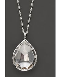 Ippolita - Sterling Silver Rock Candy® Large Teardrop Pendant Necklace In Clear Quartz - Lyst