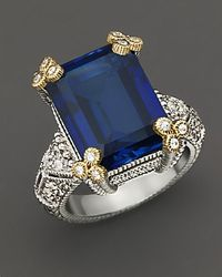 Judith Ripka Estate Emerald Cut Stone Ring - Lyst