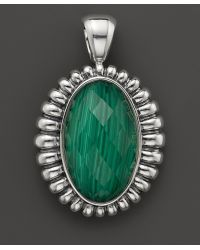 Lagos - Venus Link Sterling Silver Fluted Pendant with Malachite Doublet - Lyst