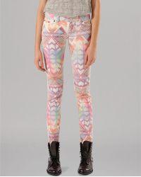 Maje Jeans Adriane Printed Skinny - Lyst