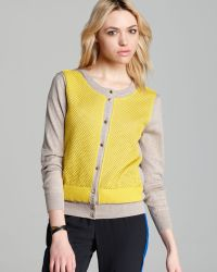 Marc By Marc Jacobs  Angela Color Block Cardigan Sweater - Lyst