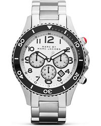 shop men s marc by marc jacobs watches from 150 lyst marc by marc jacobs metal rock mens watch 46mm lyst