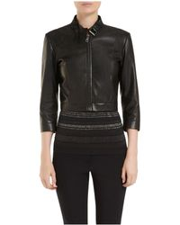 Mulberry Black Cropped Jacket - Lyst