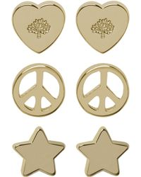 Mulberry Love Peace Earrings gold - Lyst