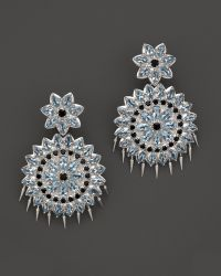 Paul Morelli - Applique Large Spiral Double Dangle Earrings With Blue Topaz And Black Spinel - Lyst